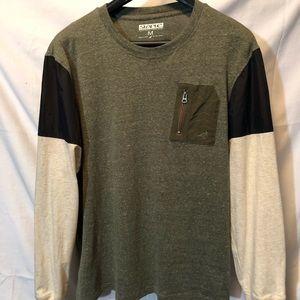 Staple long sleeve shirt and nylon details. Medium